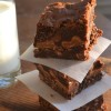 Triple Chocolate Caramel Brownies