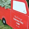 (Almost) Life Size Red Truck & Christmas Tree