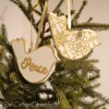 DIY Two Turtle Doves Christmas Ornament
