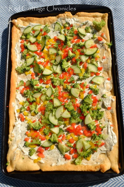 Veggie Cream Cheese Squares