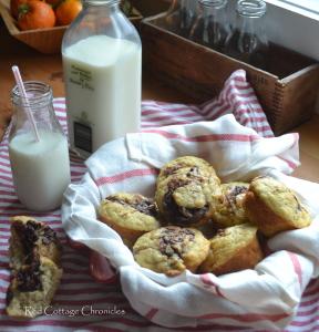 Chocolate Hazelnut Banana Muffins