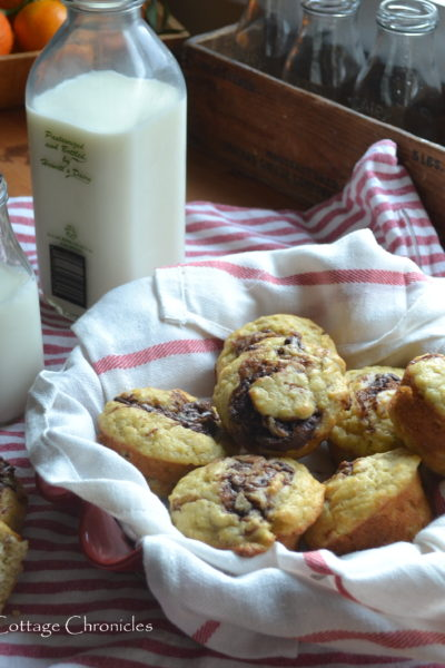 Chocolate Hazelnut Banana Muffins & A Challenge!