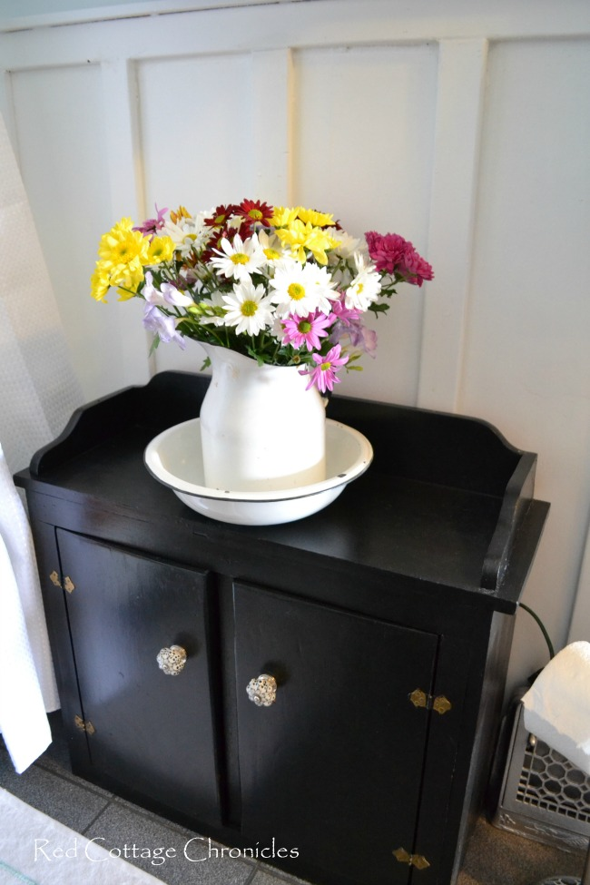 Wash Stand & Flowers