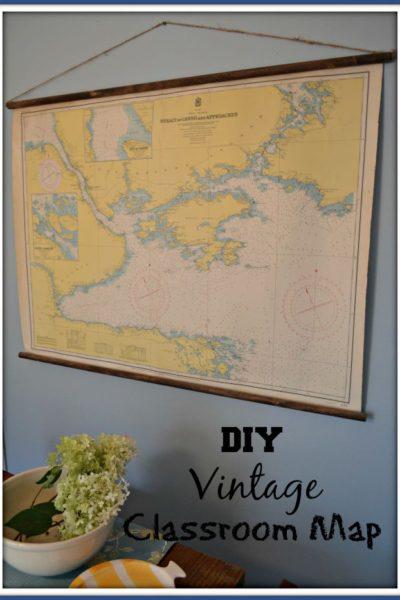 DIY Vintage Classroom Map