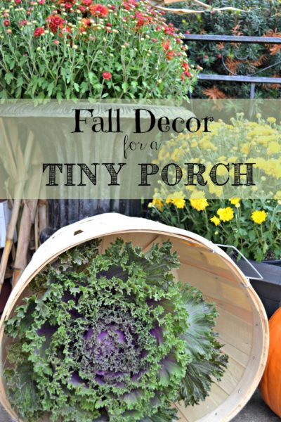 Fall Décor for a Small Porch