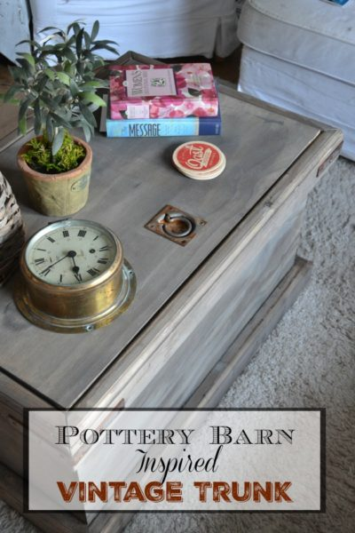 DIY Pottery Barn Inspired Storage Trunk