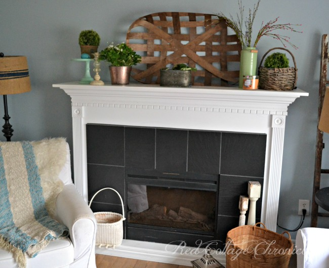 Styling a spring mantel