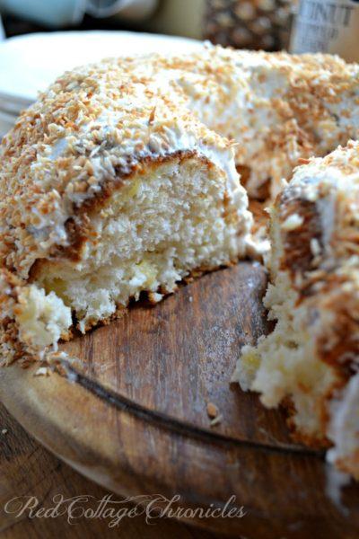 Pineapple Coconut Angel Food Cake