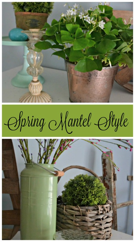 Bringing spring inside with a fresh spring mantel