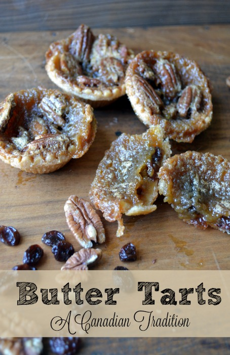 Butter Tarts with Pecans or Raisins