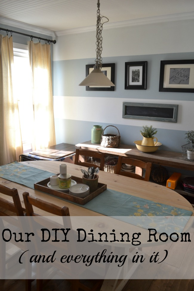Everything in our Dining Room is a DIY project www.redcottagechronicles.com