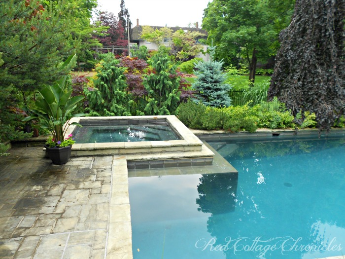 A beautiful secret garden creates a private backyard oasis