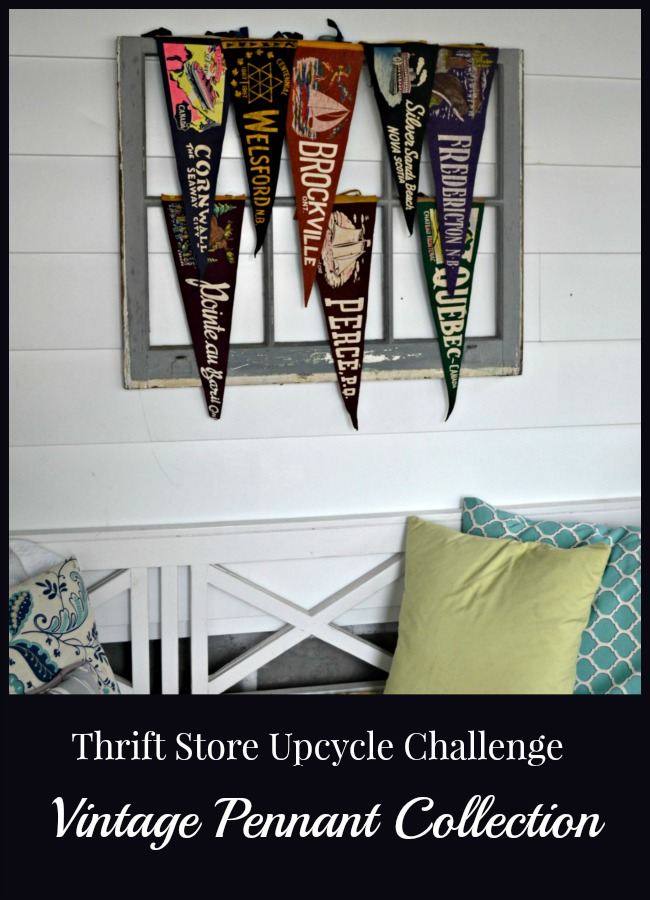 Thrift Store Decor Vintage Pennant Display