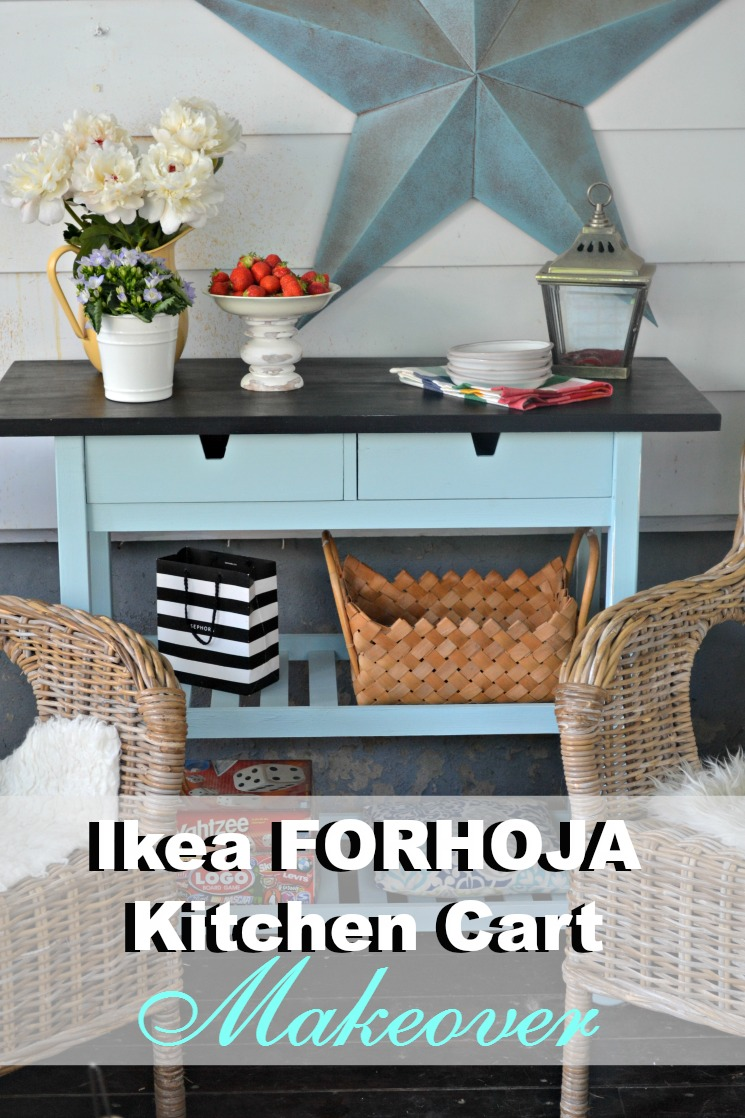 Ikea kitchen cart painted - With This Simple Ikea Kitchen Cart Hack Take A Simple Forhoja Cart And Make It Your