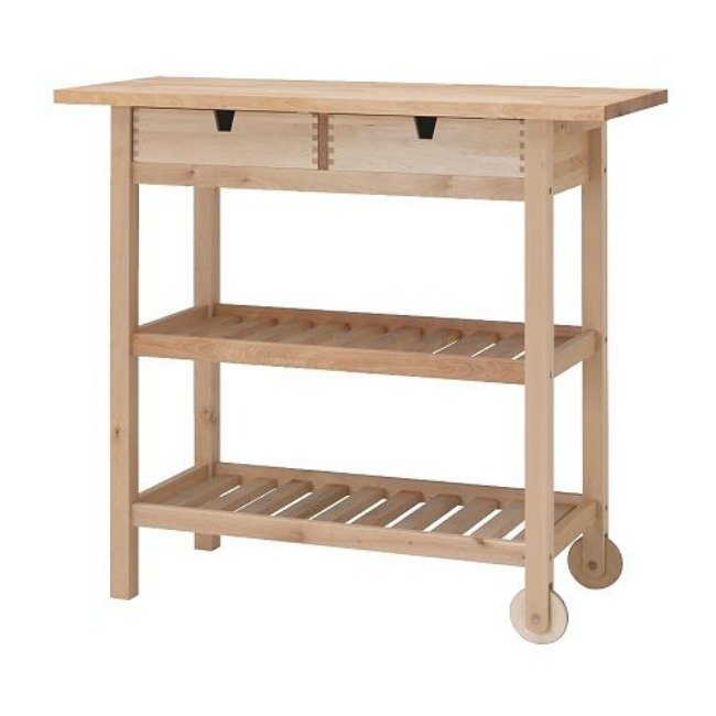 ikea hack kitchen cart edition with chalk paint and wax