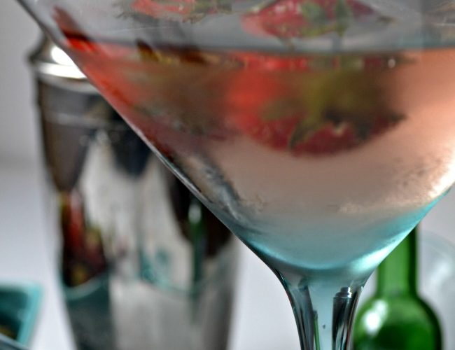 Strawberry Ice Wine Martini