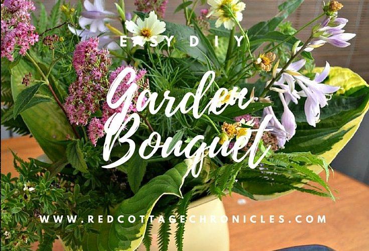 DIY Garden Flower Bouquet