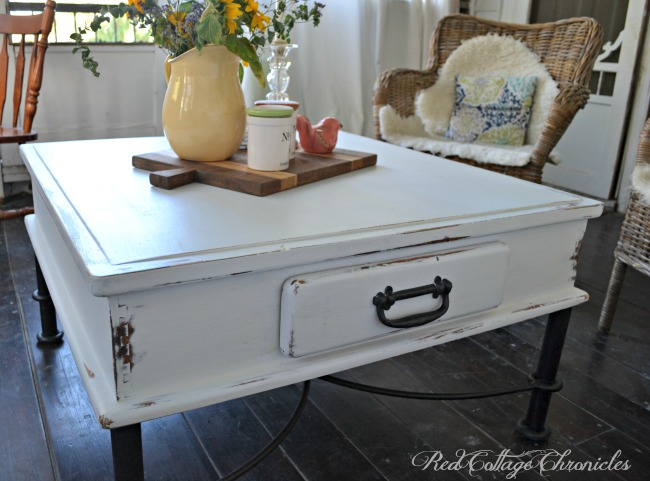 Thrift Store Decor Upcycle Challenge – Coffee Table Makeover