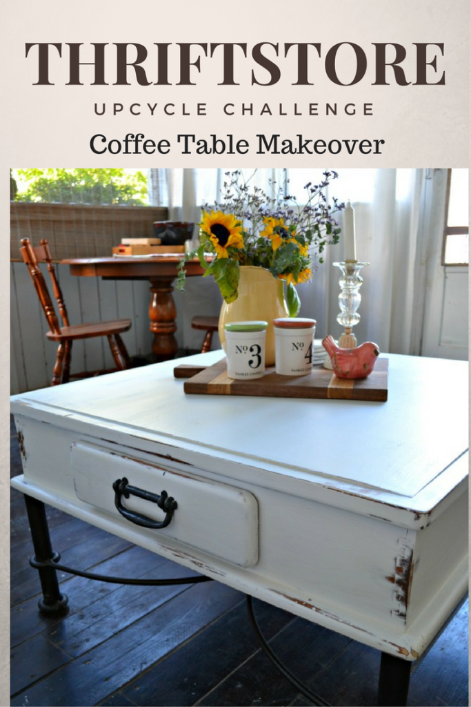 Thrift Store Decor Upcycle Coffee Table Makeover
