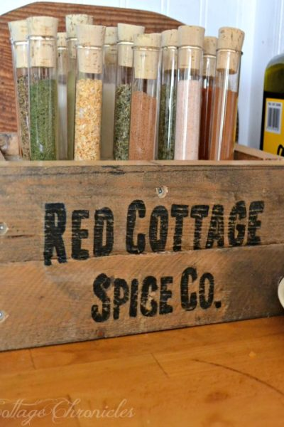 Test Tube Pallet Spice Rack