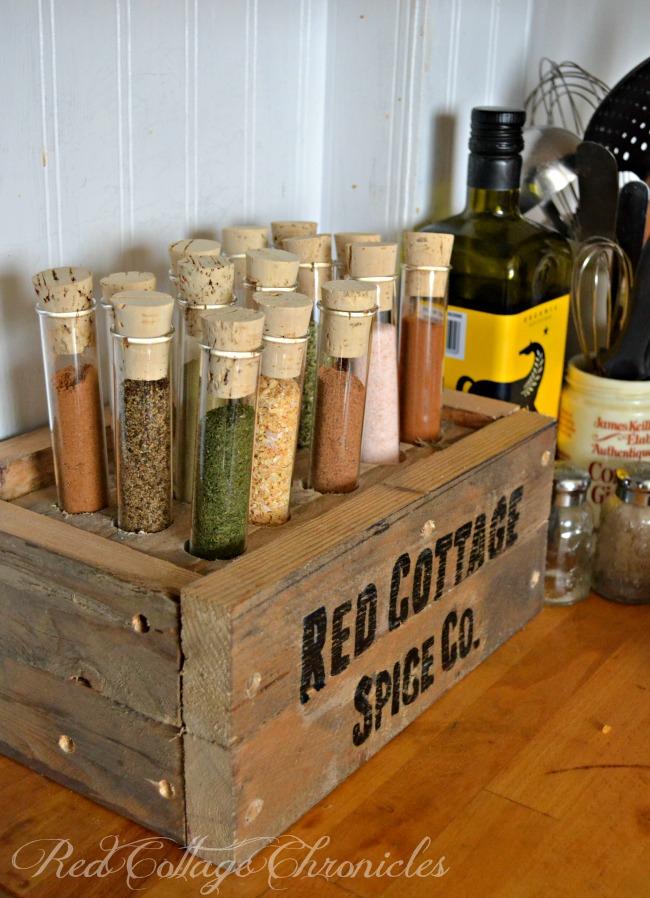 pallet spice rack test tubes