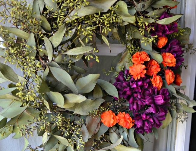 Seeded Eucalyptus Autumn Wreath