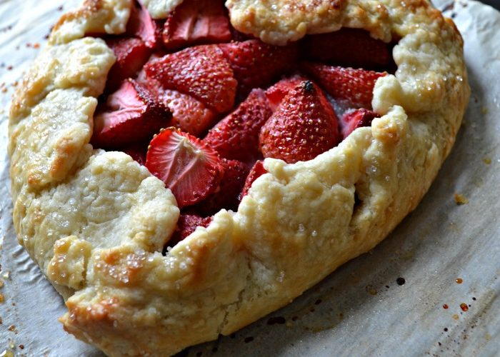 Sweetheart Strawberry Galette