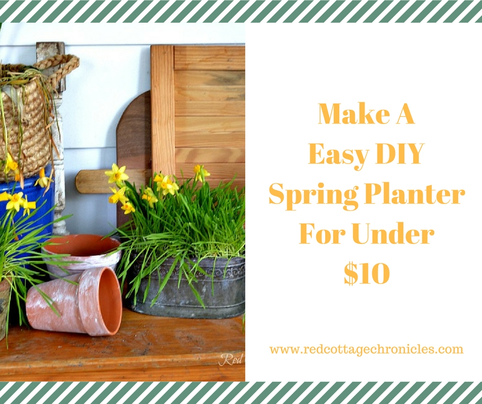 Easy DIY spring planter