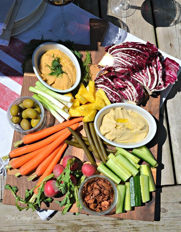 healthy veggie board