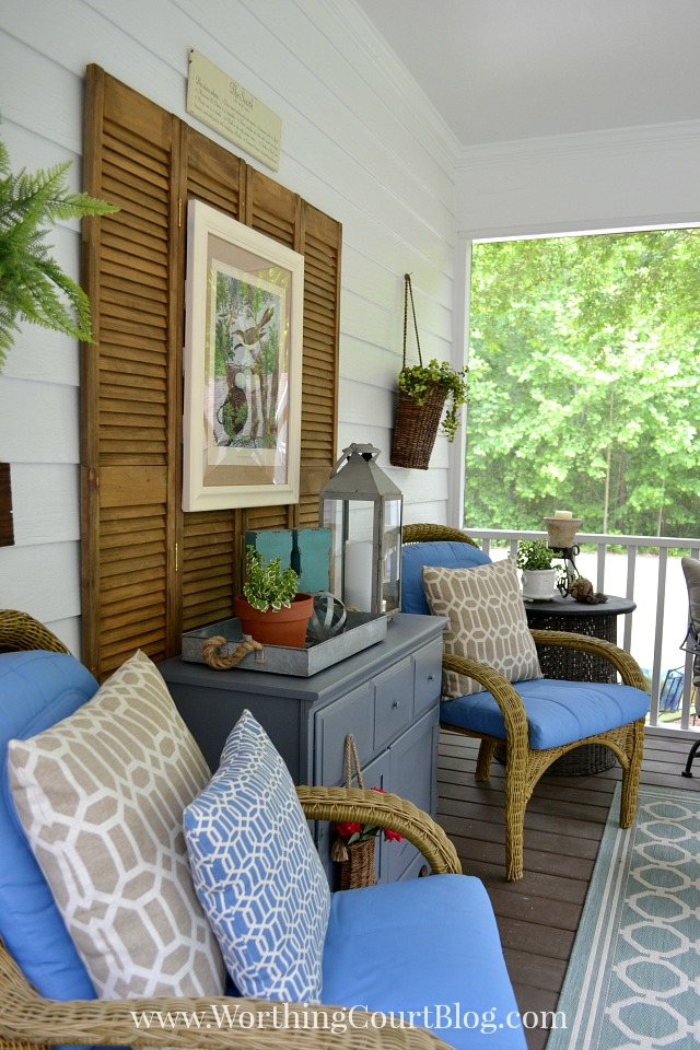 Weekend Round Up Screen Porch Reveal