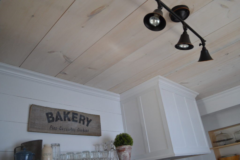 Kitchen Reveal Plywood Plank Ceiling