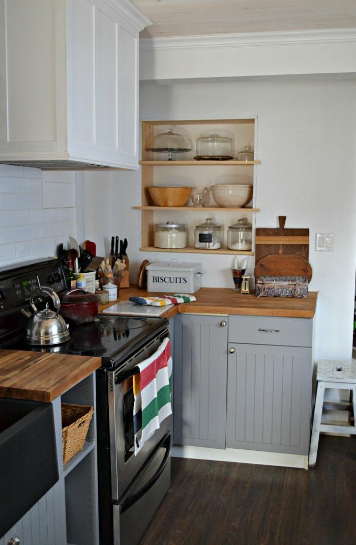 Kitchen Reveal Open Shelves