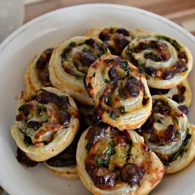Cranberry Brie Pinwheels