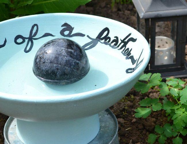 Once a Fruit Bowl, Now A Bird Bath