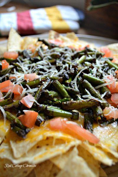 Grilled Balsamic Asparagus Nachos