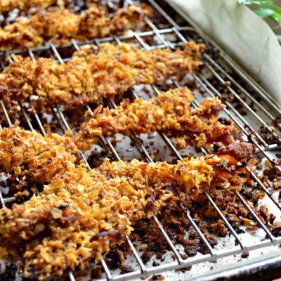 Corn Flake Crusted Bacon