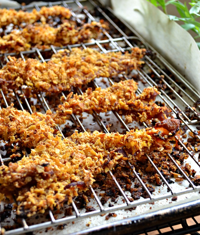 Corn Flake Crusted bacon is one of those brunch recipes you will want to keep around