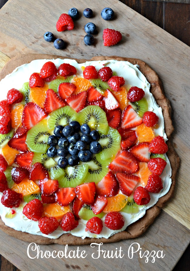 Easy Chocolate Fruit Pizza Recipe