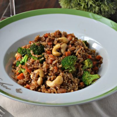 Cashew Vegetable Fried Rice