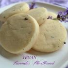 Vegan Lavender Shortbread