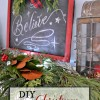 DIY Christmas Chalkboard Sign