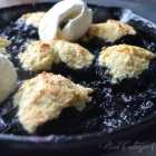 Skillet Blueberry Slump