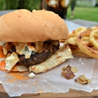Buffalo Wing Burger - #SundaySupper