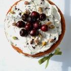 Cherry-Pistachio Naked Cake