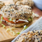 Simple Whole Wheat Everything Bagels In Under an Hour