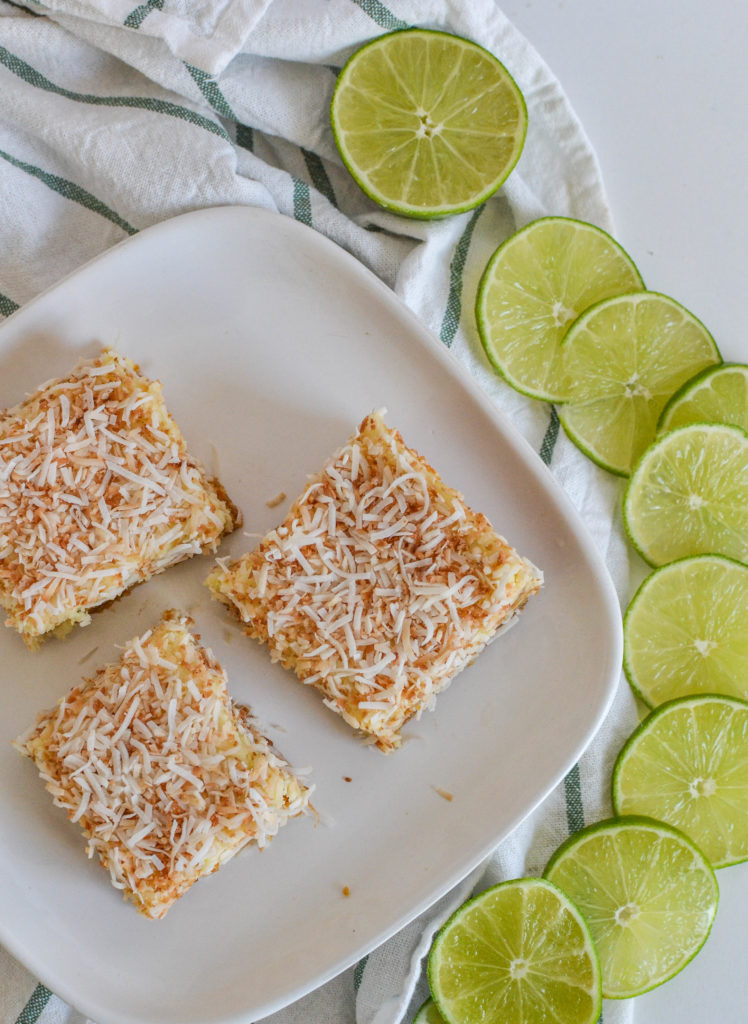Toasted Coconut Lime Squares