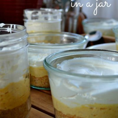 No Bake Pumpkin Cheesecake…in a jar