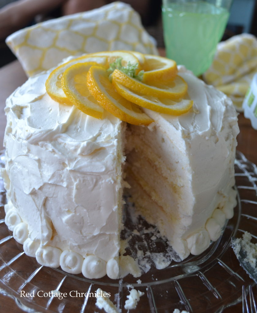 Triple layer lemon cake