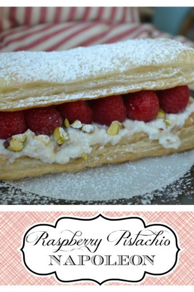 raspberry pistachio napoleon