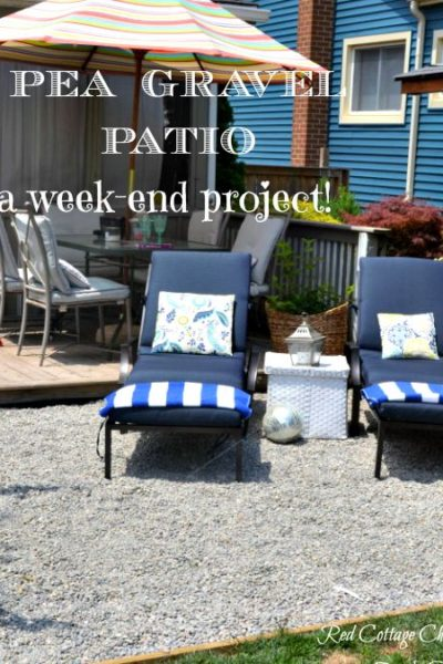 Backyard Makeover – Pea Gravel Patio